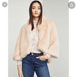 Gorgeous faux fur BCBG pale pink coat
